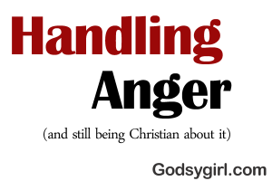 righteous anger as a Christian