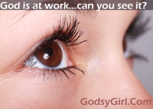 Seeing God at work in our lives