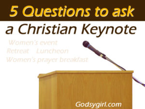 Questions to ask Christian speaker