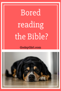 Don't get bored reading the Bible