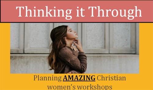 womens ministry planning christian women workshops