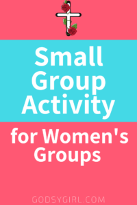A fun women's group activity idea that will make women ponder the subject.