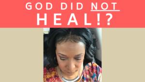 when God doesn't answer prayer
