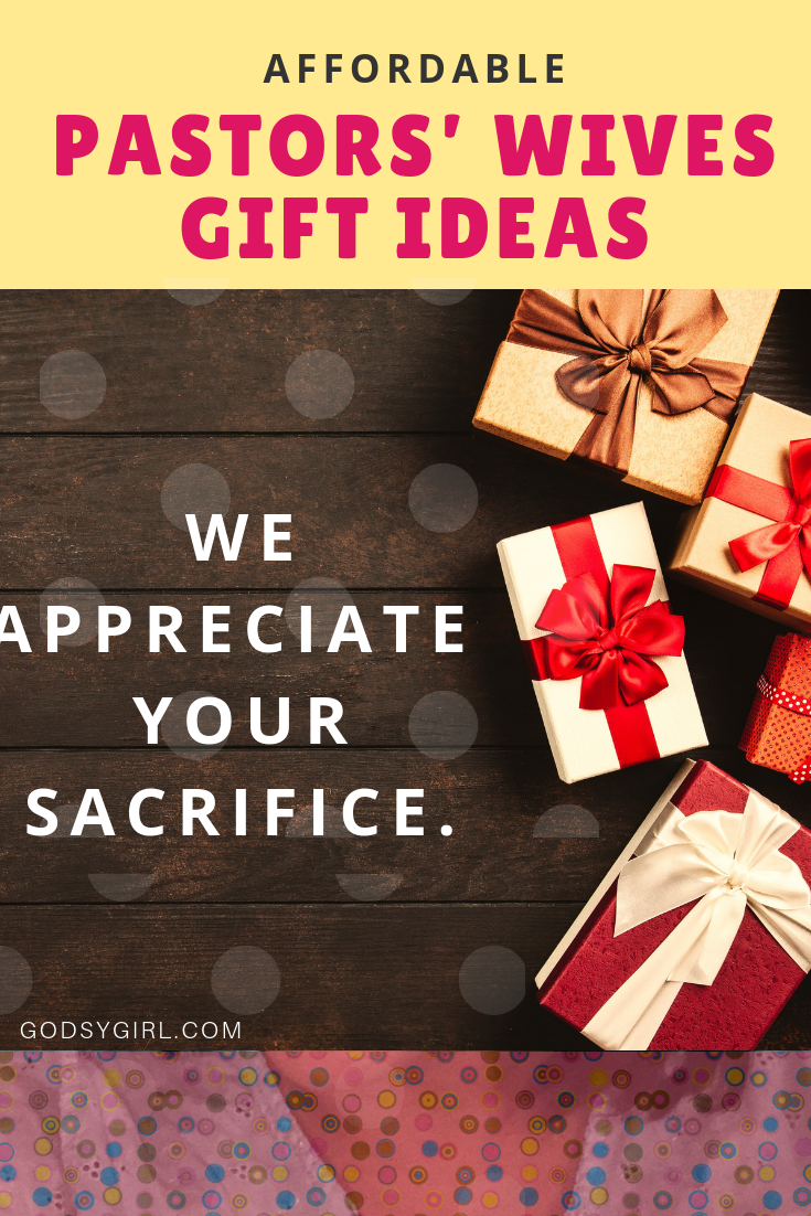 Affordable gifts for pastors wives