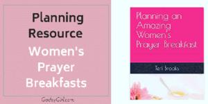 planning a prayer breakfast