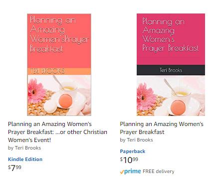 Planning a women's prayer breakfast and titles