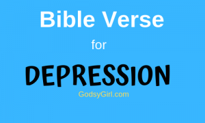 Bible verse for depression