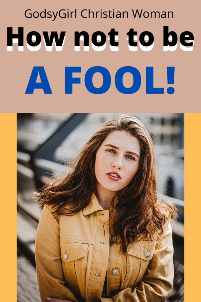 How to not be a stone, cold, #1 FOOL! Real talk. Find out what the bible says about fools.