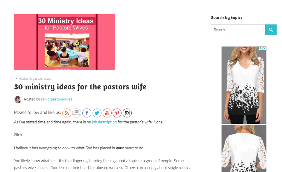 Christian lifestyle blog for Christian women and pastors wives