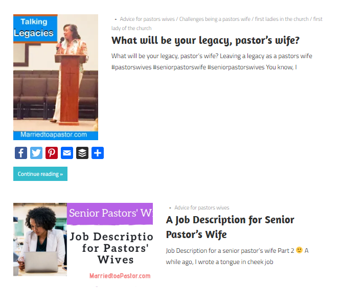 How to be one of the good pastors wives
