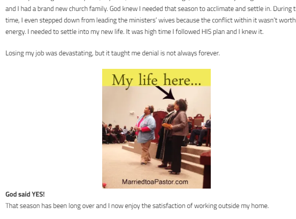 Christian blogger woman  and pastors wives advocate