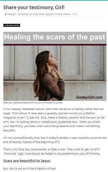 blog for Christian women