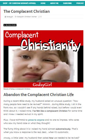 Christian life style blog for women