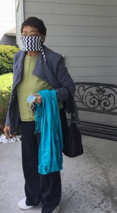 Christian lifestyle blogger made a homemade mask.