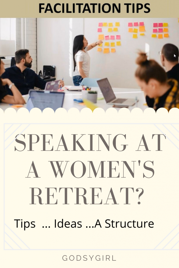 Tips for speaking at women's retreat.