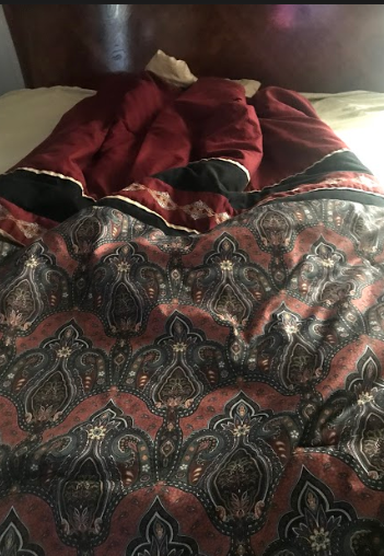 Had to make my bed first before watching the online women's conference