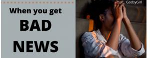 Christians handling bad news