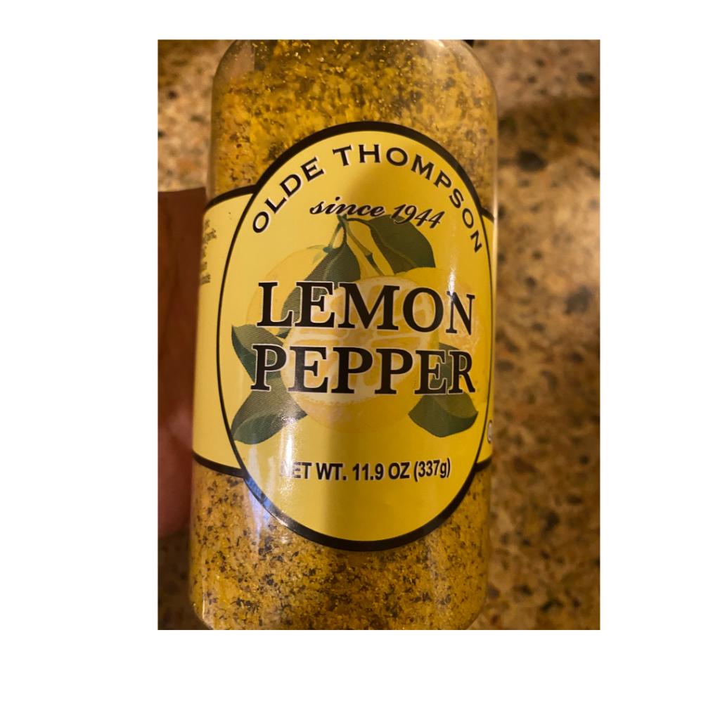 Lemon pepper in corn salad.